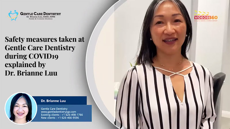 Safety measures taken at Gentle Care Dentistry during COVID19 explained by Dr. Brianne Luu